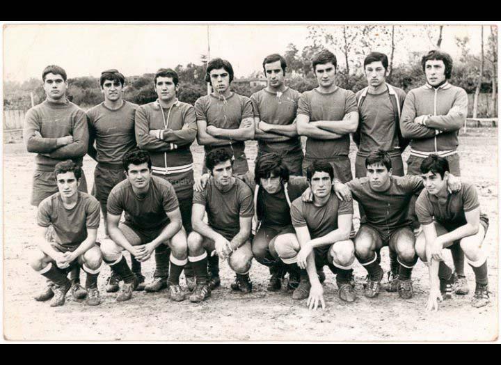 Equipo de futbol Porriño Industrial / Foto Gobar [1968 – 1980 (?)] / PROCEDENCIA: Recollida O Porriño. Album familiar José Rodríguez Pérez