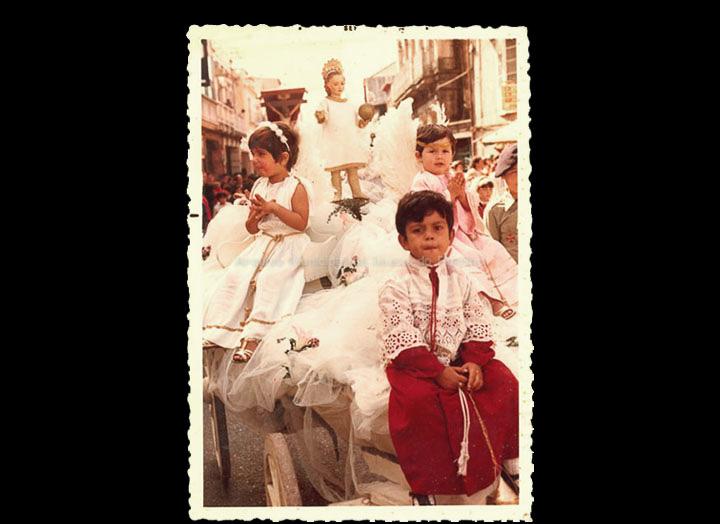 Carro Triunfante na procesión do Cristo. / Foto Magno [1973-1974] / PROCEDENCIA: Recollida O Porriño. Álbum familar de Rita Iglesias Miniño