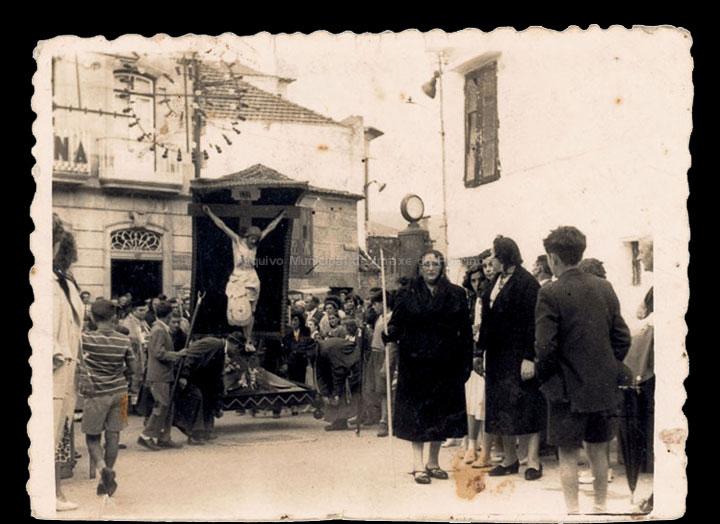 Procesión do Cristo da Agonía. / Foto Ramiro [1950-1960 (?)] / PROCEDENCIA: Fondo Juan Manuel Areal Grova