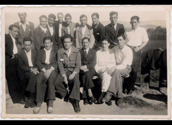 Presos políticos no Hospital do Rebullón. / Autor descoñecido [24-08-1941] / PROCEDENCIA: Recollida O Porriño. Album familiar de Josefa Sío Casales