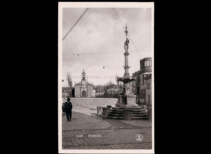 Parque do Cristo. Tarxeta postal. / Ediciones Unique [Primeiro cuarto s. XX
