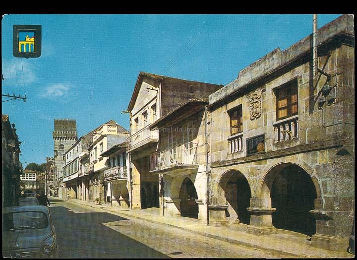 Rúa Ramón González. Tarxeta postal. / Comercial Escudo de Oro – Ediciones Fisa [1970-1980 (?)]