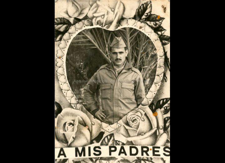 Manuel Doval no servizo militar. / Autor descoñecido [1977] / PROCEDENCIA: Recollida Torneiros. Album familiar de Benito Doval