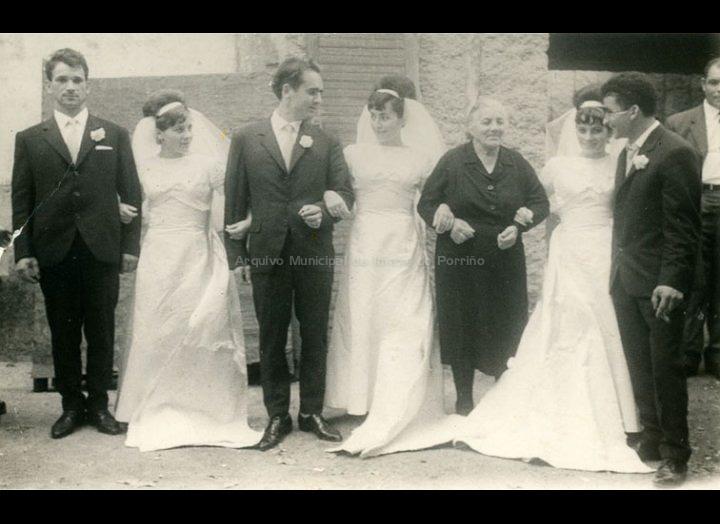Voda de tres irmás. / Agustín Bermejo [1955 – 1965 (?)] / PROCEDENCIA: Recollida O Porriño. Album familiar de Adoración Díaz Estévez