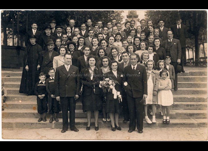 Voda de Jesús Fdez. Castro e Carmen Pexegueiro. / Llanos [1944] / PROCEDENCIA: Recollida O Porriño. Album familiar de Jesús Fdez. Castro e Carmen Pexegueiro