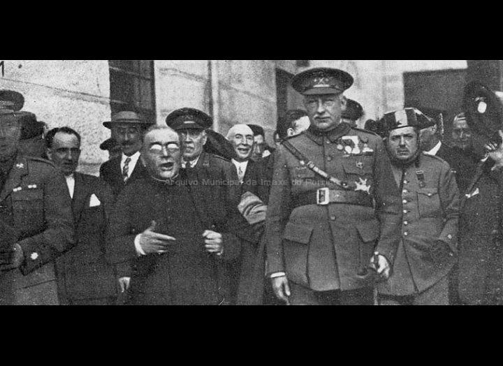 Domingo Bueno e Miguel Primo de Rivera o día da inauguración do Matadoiro de MARUCOGA. / Pacheco [03/04/1928] / PROCEDENCIA: (extraida de prensa da época)