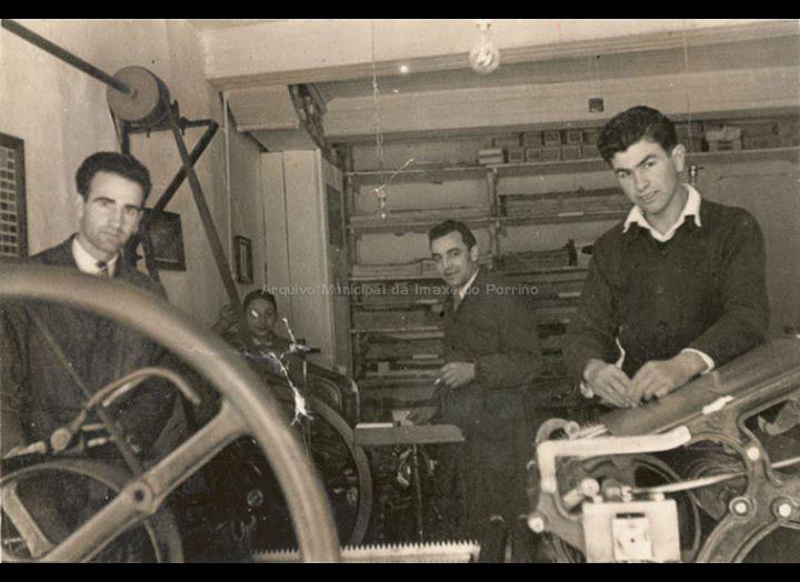 Imprenta Bolfer nas súas primeiras dependencias na rúa Ramón González. / Foto Company [1948] / PROCEDENCIA: Recollida O Porriño. Imprenta Bolfer
