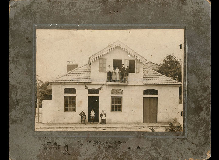 Inauguración da tenda de Boente en Cans. / Hermenegildo Ocaña (?) [1908-1909 (?)] / PROCEDENCIA: Recollida Cans. Álbum familiar de Carmen Rodríguez Boente